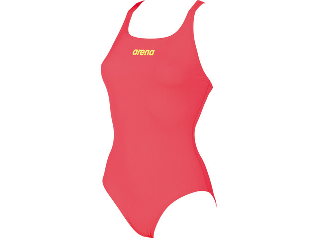 arena Solid Swim Pro Bañador Mujer, fluo red-soft green